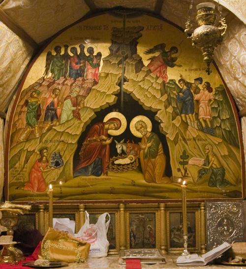 Рождество Христово. Икона из пещеры Рождества, Вифлеем