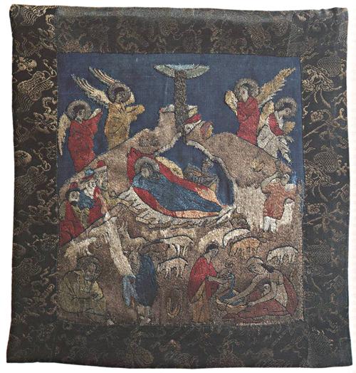 Рождество Христово. Пеленa, первая половина XV в., Троице-Сергиева лавра