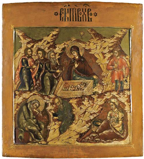 «Рождество Христово» Икона из праздничного ряда иконостаса. 17 век (сайт sothebys.com)