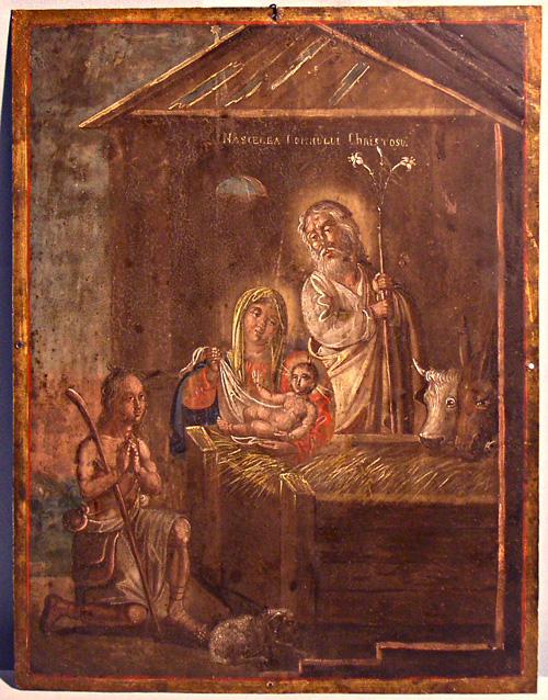 Рождество Христово. Икона, Румыния, 1840 г., Частное собрание. (сайт ikonengalerie-von-kuelmer.de)