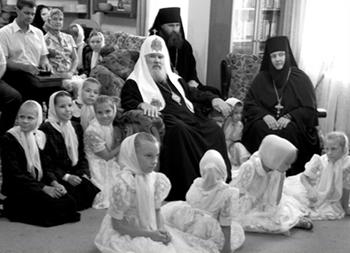 Cвятейший Патриарх в гостях у приюта Ковчег