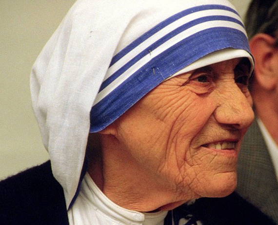 Mother Teresa of Calcutta at a pro-life meeting on July 13, 1986 in Bonn, Germany