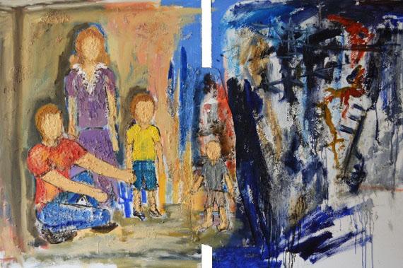 Алекс Долль, «Усыновление», диптих (2014 г.); Фото с сайта swissinfo.ch