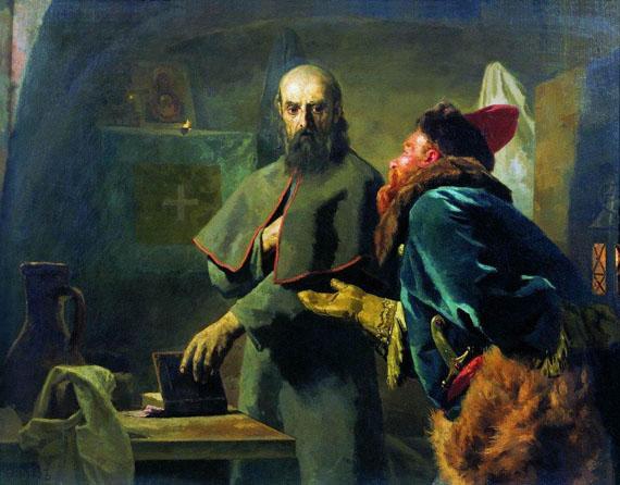 Nikolaj_Wassiljewitsch_Newrew_-_Philip_II,_Metropolitan_of_Moscow_and_Malyuta_Skuratov