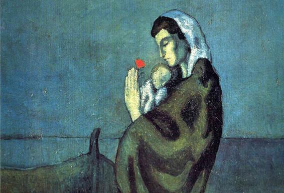 Pablo-Picasso_Mere-et-enfant-sur-le-rivage_1902