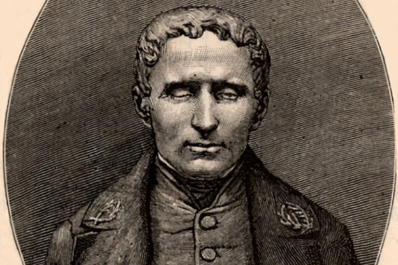 French educationalist Louis Braille