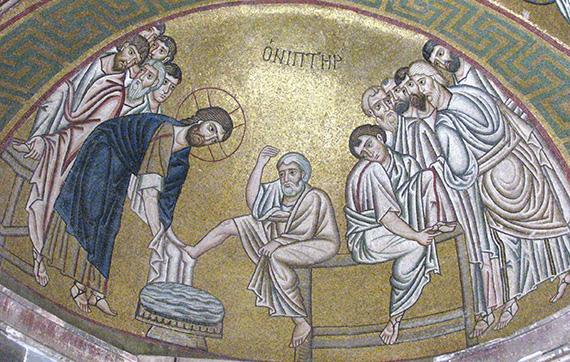 Hosios_Loukas_(narthex)_-_North_wall_(Washing_the_feet)_02