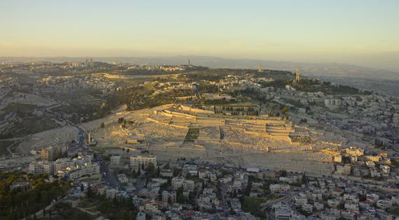 Israel-2013-Aerial-Mount_of_Olives