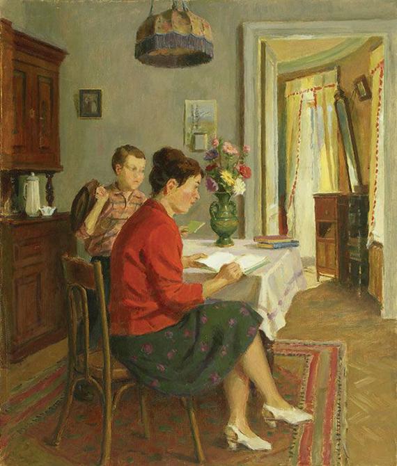 Гринюк Иван Александрович (1915, Минская область – 1996, Москва) «Проверка уроков» 1979 (1)