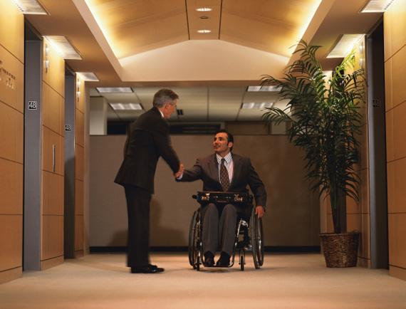 Handshake in Lobby