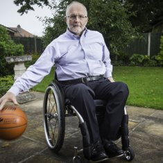 IoS. Sir Philip Craven, President of the Paralympics Committee, at home in Crewe. He is a former Paralympic basketball player.