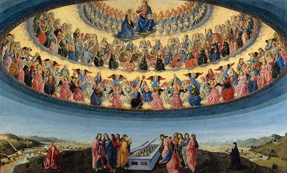 Full title: The Assumption of the Virgin Artist: Francesco Botticini Date made: probably about 1475-6 Source: http://www.nationalgalleryimages.co.uk/ Contact: picture.library@nationalgallery.co.uk Copyright © The National Gallery, London
