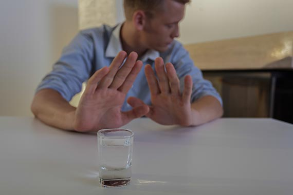 Man refuses drinking vodka after long day