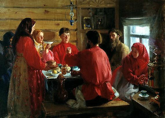 КУЛИКОВ Иван - В крестьянской избе