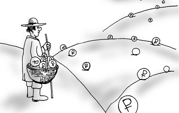 Иллюстрация с обложки книги Татьяны ЗВЕРЕВОЙ «Фандрайзинг для начинающих: как искать средства на благотворительный проект». Рисунок Дмитрия ПЕТРОВА.