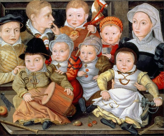 jacob_seisenegger_portrait_of_a_mother_with_her_eight_children