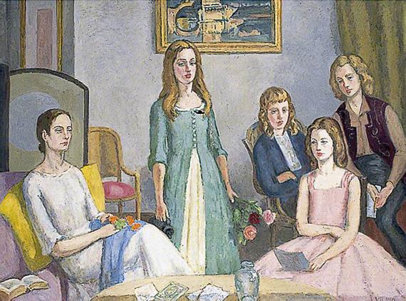 Bell, Vanessa; Angelica Garnett and Her Four Daughters; Charleston; http://www.artuk.org/artworks/angelica-garnett-and-her-four-daughters-73781