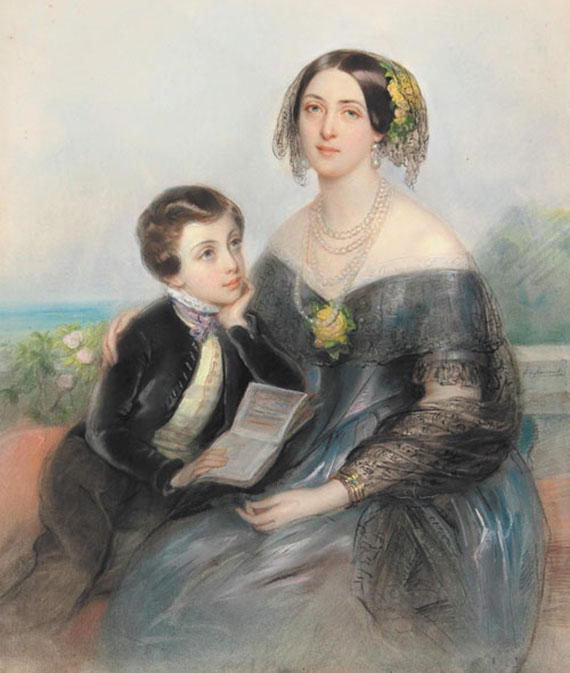 a-demidova_with_son_paul_by_l-h-de_liomenil_-1840s-_priv-coll