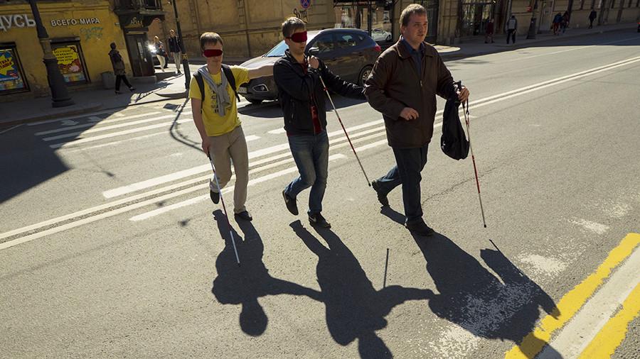 Слепые инвалиды картинки