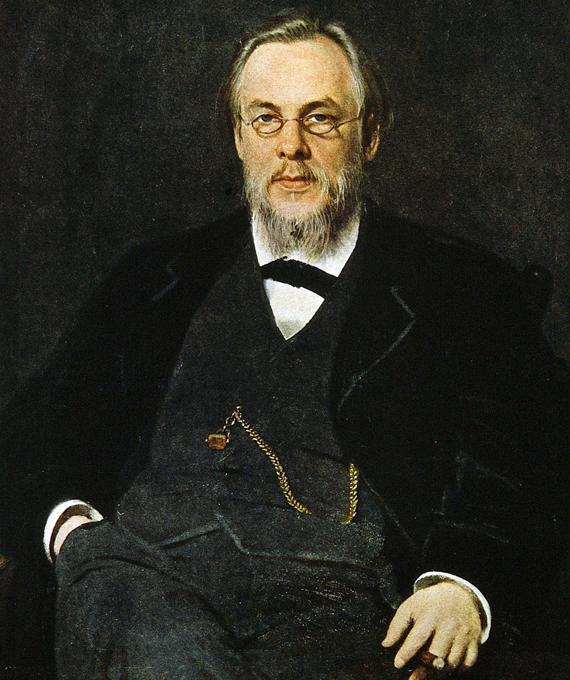 С.П.Боткин С.П.Боткин, портрет кисти И.Н.Крамского (1880).