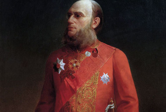 Алексей Колесов, портрет П.П. Семенова-Тян-Шанского (1874). Изображение с сайта wikipedia.org