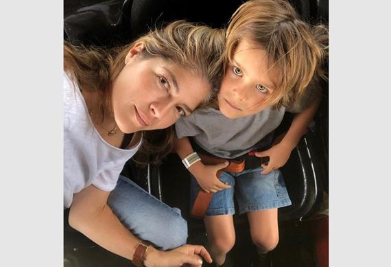 Сэльма с сыном